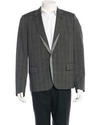 Christian Dior Dior Homme Plaid Wool Contrast Blazer