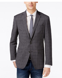 DKNY Grey Plaid Extra Slim Fit Sport Coat