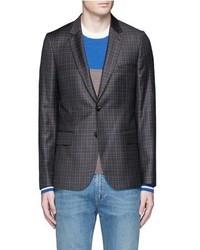 Paul Smith Soho Check Plaid Wool Blazer