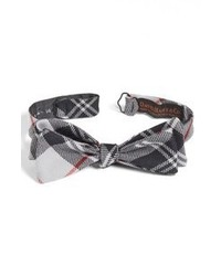 Charcoal Plaid Bow-tie