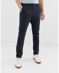 Jack & Jones Premium Smart Trousers In Check With Drawstring