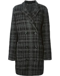 Double breasted plaid coat medium 230496