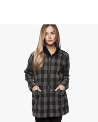 James perse plaid parka coat medium 1159905