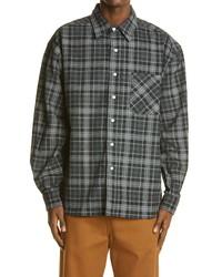 Noon Goons Baseline Plaid Button Up Corduroy Shirt