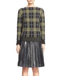 Charcoal Plaid Crew-neck Sweater