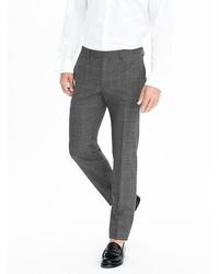 Banana Republic Slim Gray Plaid Wool Trouser