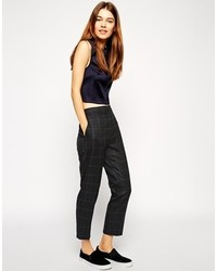 Asos Collection Slim Leg Pant In Window Check
