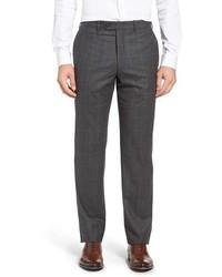 Flat front plaid wool trousers medium 851943