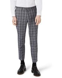 Skinny fit plaid crop suit trousers medium 3746465