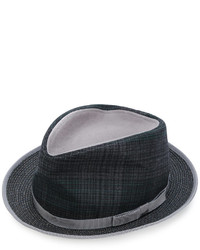 Etro Plaid Fedora Hat