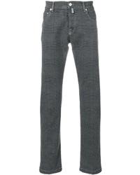 Kiton Plaid Regular Jeans