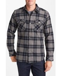 Charcoal Plaid Long Sleeve Shirt