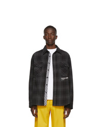 Off-White Black Quote Flannel Shirt