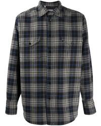 MSGM Check Pattern Long Sleeve Shirt