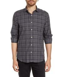 Hartford Paul Regular Fit Plaid Button Up Shirt