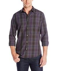 Roadmap heather check woven shirt medium 232427