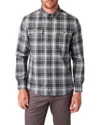 7 Diamonds Sawyer Slim Fit Plaid Button Up Shirt