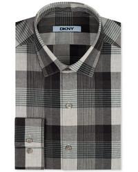 DKNY Shadow Grey Check Dress Shirt Web Id 1933244