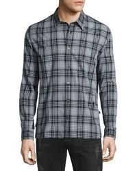 Star usa classic plaid sport shirt coal medium 826338