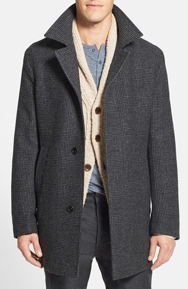 8991b33b5 Hugo Boss Boss Dais 2 Plaid Overcoat, $645 | Nordstrom | Lookastic.com