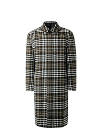 Ami Oversized Checked Wool Blend Coat