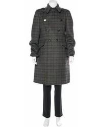 Bottega Veneta Plaid Wool Overcoat