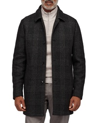 Bonobos Slim Fit Glen Plaid Wool Blend Car Coat