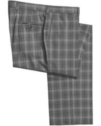 Charcoal Plaid Pants