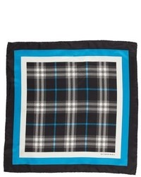 Burberry Plaid Silk Pocket Square
