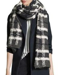 Long chunky plaid scarf charcoal medium 693738
