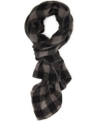 Woven plaid scarf medium 130575