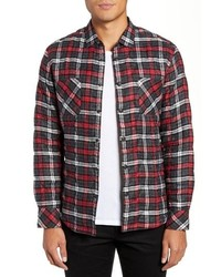 Good Man Brand Slim Fit Cotton Plaid Shirt Jacket