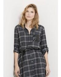 Check shirt dress medium 373599