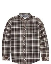 Charcoal Plaid Short Sleeve Shirt