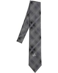 Vivienne Westwood 85cm Plaid Jacquard Silk Crepe Tie