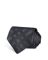 Charcoal Plaid Silk Tie