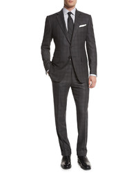 Tom Ford Oconnor Base Tonal Plaid Two Piece Suit Gray