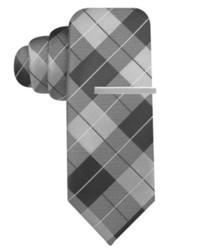 Alfani Red Screaming Plaid Slim Tie