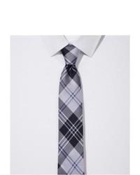 Express Narrow Silk Tie Plaid