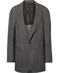 Charcoal Plaid Wool Blazer