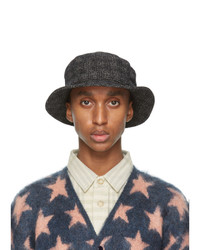 Needles Black British Tweed Bucket Hat