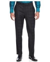 Calvin Klein Dress Pants Grey Plaid Pants Slim Fit