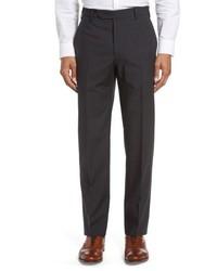 Devon flat front plaid wool trousers medium 4949544