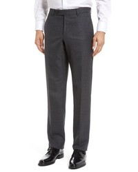 Ted Baker London Jefferson Flat Front Plaid Wool Trousers