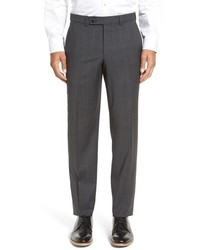 Ted Baker London Livingstone Flat Front Plaid Wool Trousers