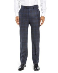 Berle Manufacturing Plaid Wool Trousers