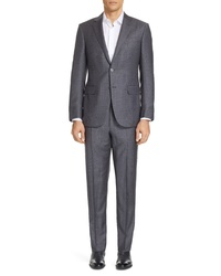 Ermenegildo Zegna Milano Trofeo Classic Fit Plaid Wool Suit