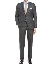 Hickey Freeman Plaid Classic Fit Loro Piana Wool Suit