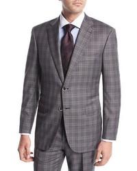 Brioni Plaid Wool Two Piece Suit