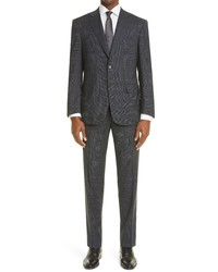 Canali Sienna Plaid Stretch Wool Suit